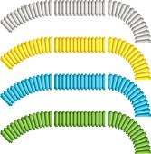 colored corrugated flexible tubes
