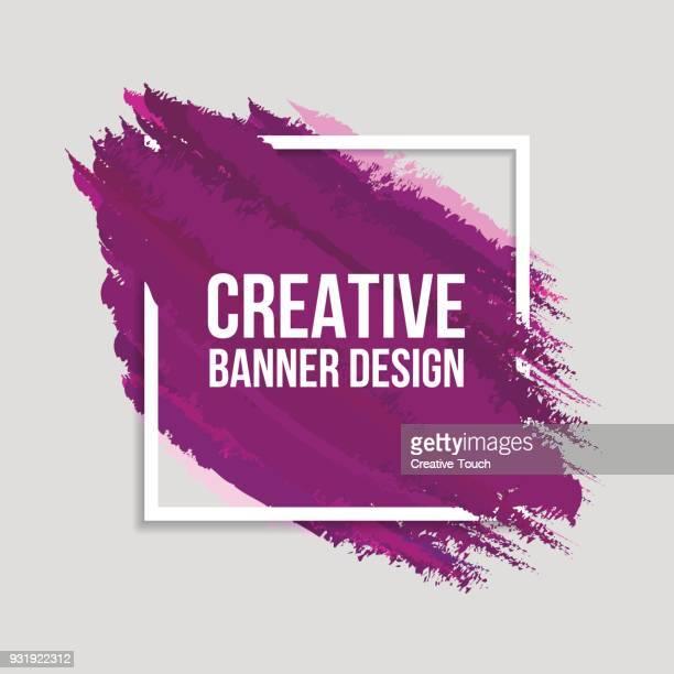 Farbige kreative Banner