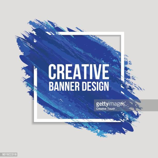 colored creative banners - painted image stock illustrations