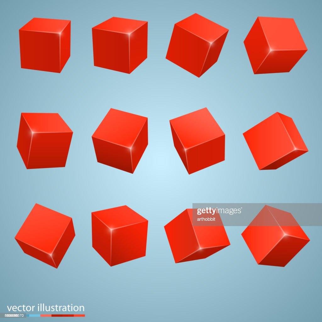 colored cubes 3d