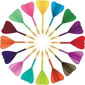 Colored darts