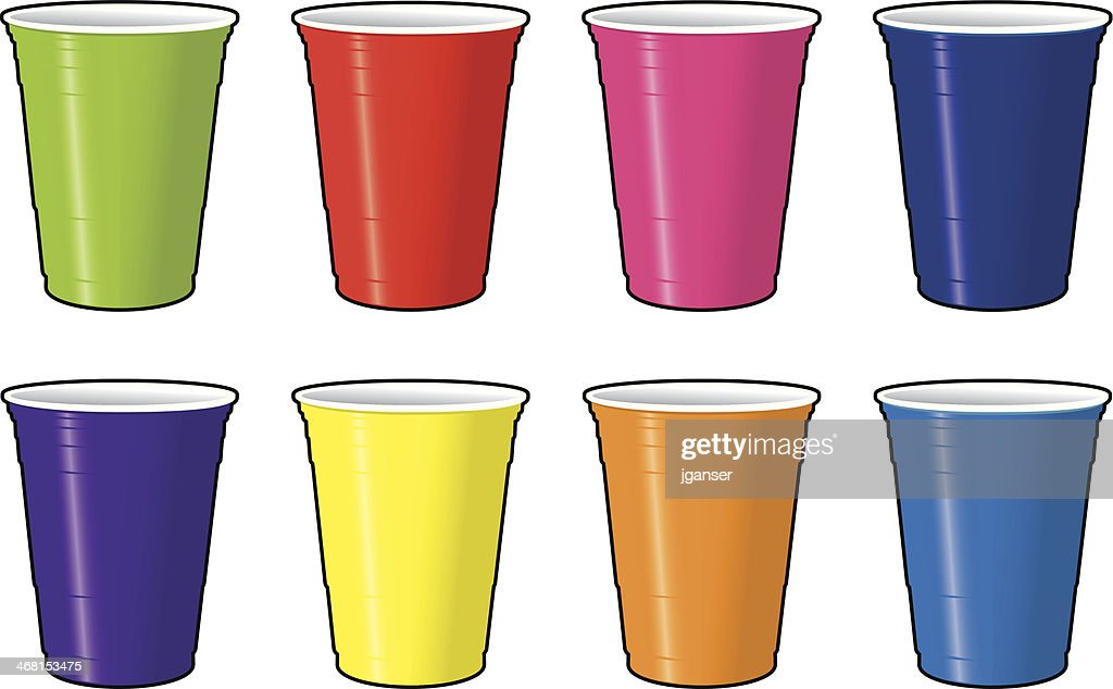 Colored Disposable Beer Cups