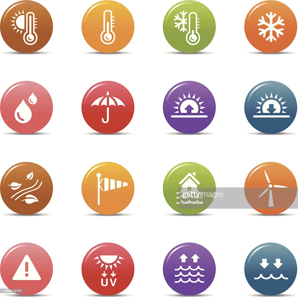 Colored Dots - Weather Icons