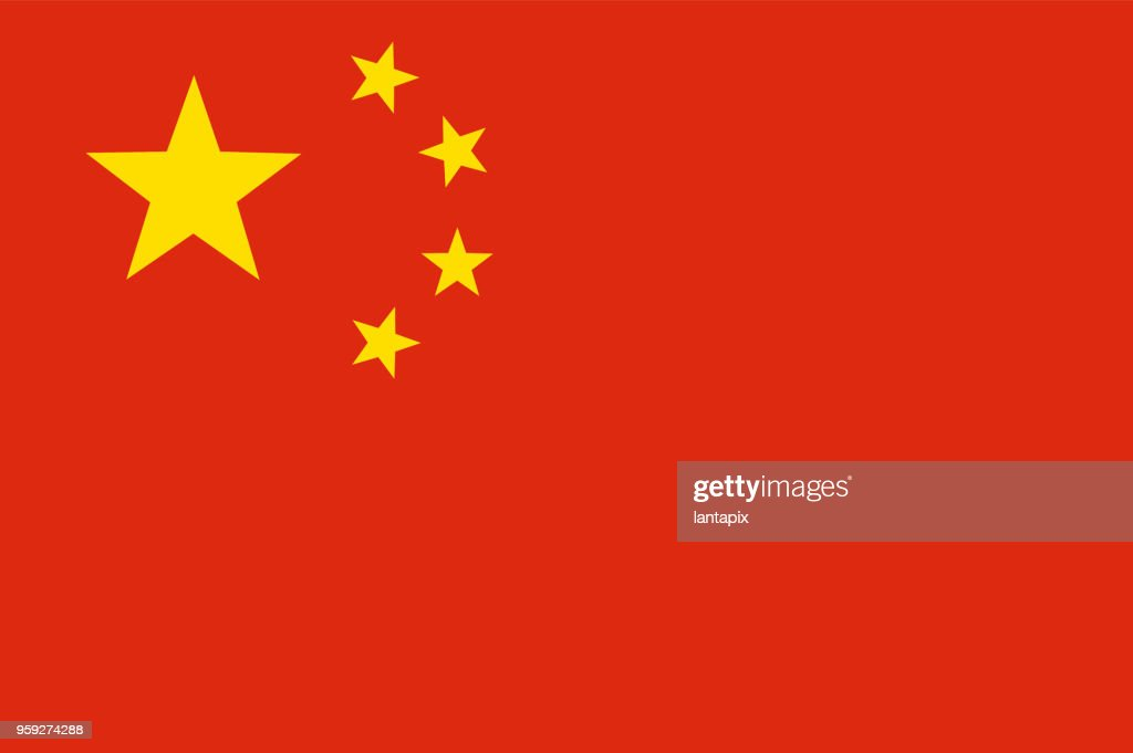 Colored flag of China