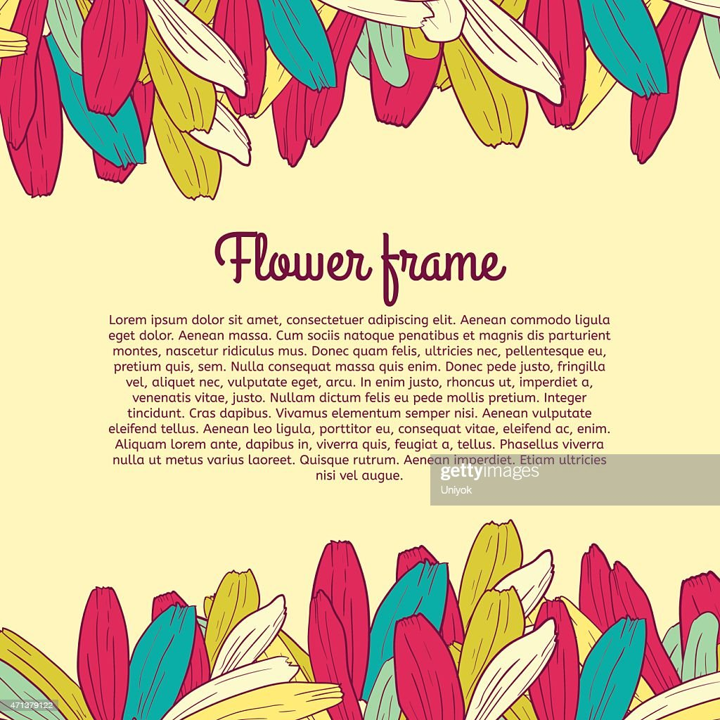 Colored floral frame with place for your text