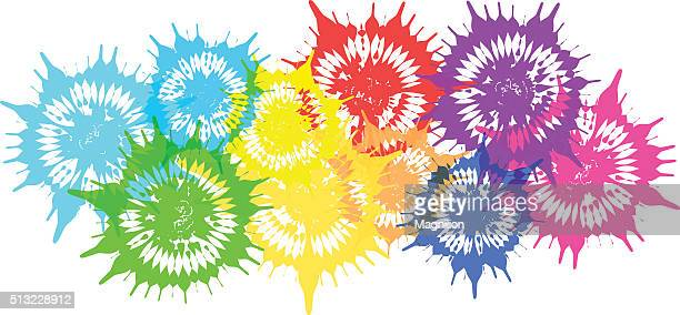 Colored Flowers Blots
