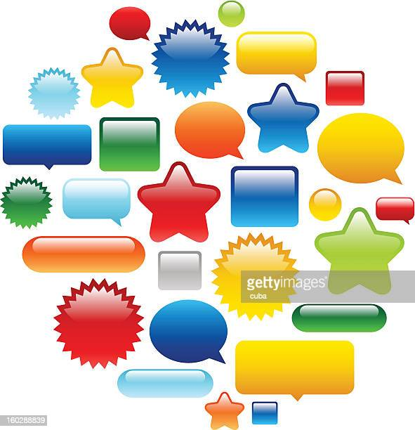 ilustraciones, imágenes clip art, dibujos animados e iconos de stock de color botones brillante web - doble exposicion negocios