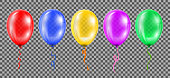 Colored helium balloons - vector