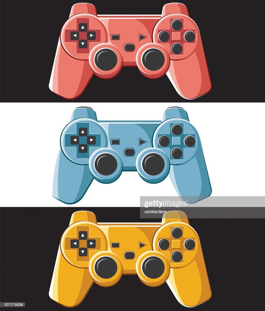 colored joypad set : stock illustration