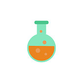 colored liquid in vitro icon. Element of science and laboratory for mobile concept and web apps. Detailed liquid in vitro icon can be used for web and mobile. Premium icon
