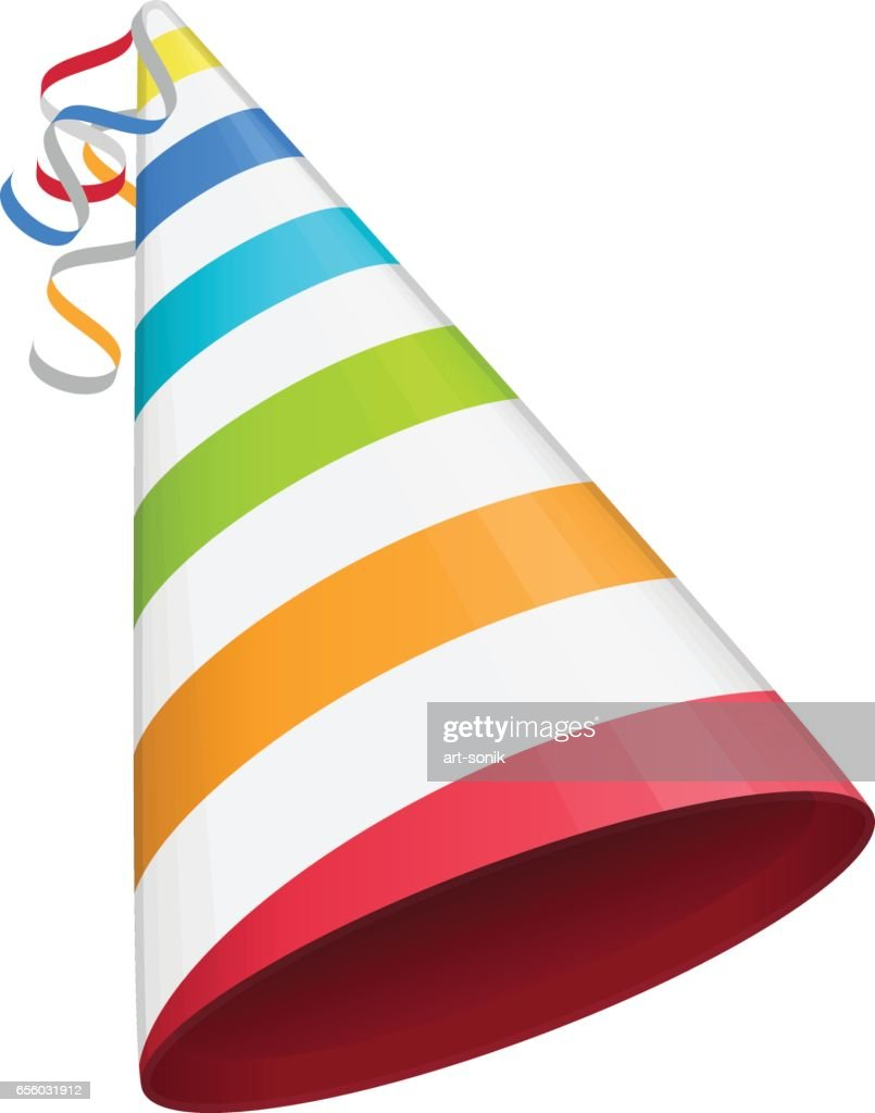 Colored party hat.