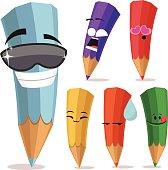 Colored Pencils Cartoon Set A