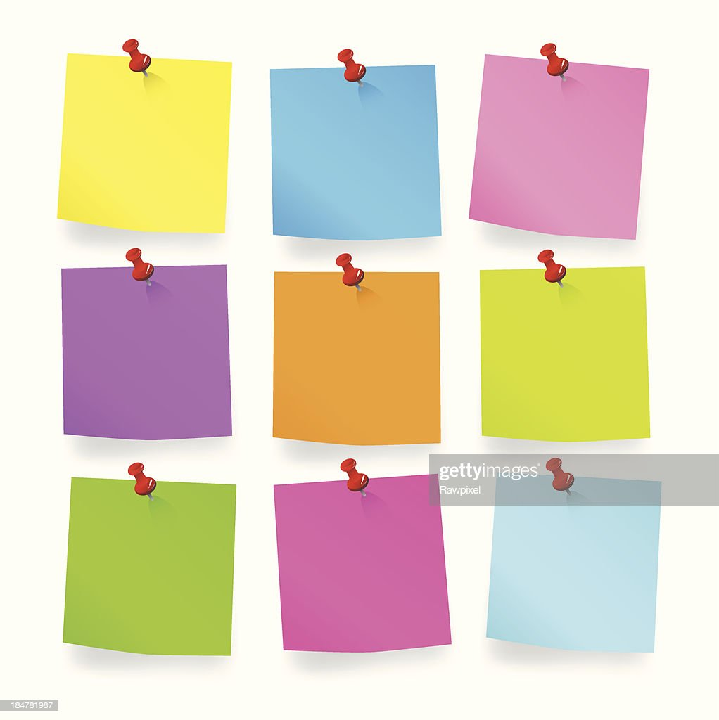 Colored pieces of Blank Notes