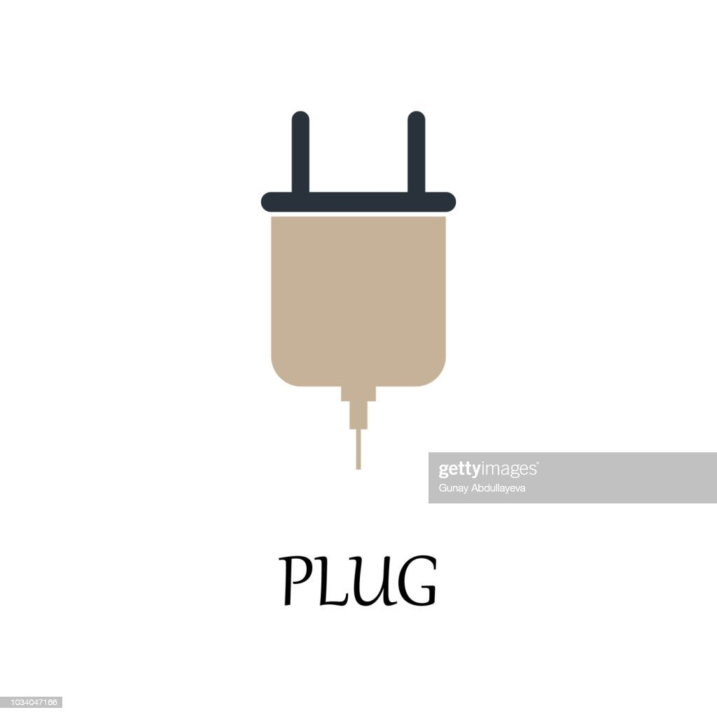 colored plug icon. Element of web icon for mobile concept and web apps. Detailed colored plug icon can be used for web and mobile. Premium icon
