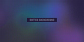 Colored printing raster, abstract vector halftone background