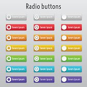 Colored radion buttons