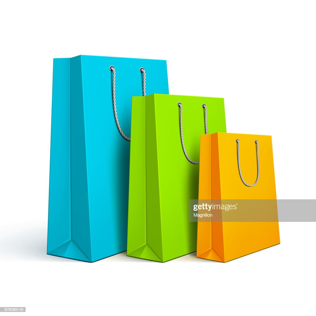 Colored Shopping Bags : stock illustration