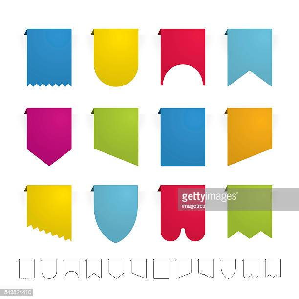 Colored Simple Ribbons Set