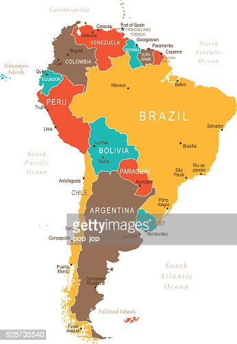Colored South America Map High-Res Vector Graphic - Getty Images on la paz map, bogota map, georgetown ohio map, falkland islands map, georgetown florida map, columbia north america map, georgetown caribbean map, georgetown ontario map, georgetown dc, galapagos islands map, brasilia map, georgetown guyana map, latin america map, cayenne map, georgetown tx school zone map, camp humphreys south korea map, georgetown jamaica map, lake titicaca map, montevideo map, georgetown alaska map,