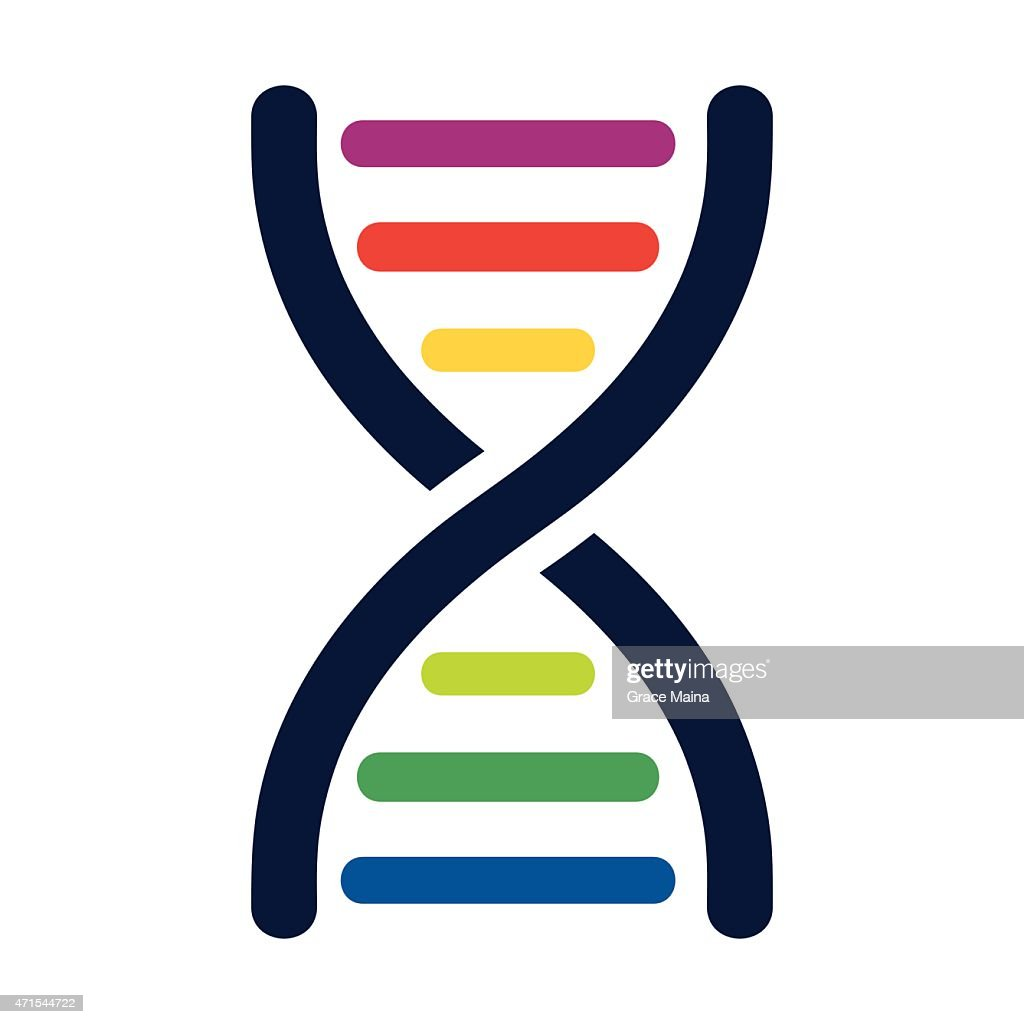 DNA colored strands - VECTOR