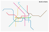 colored subway map of Berlin, germany