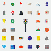 colored traffic light icon. Web icons universal set for web and mobile