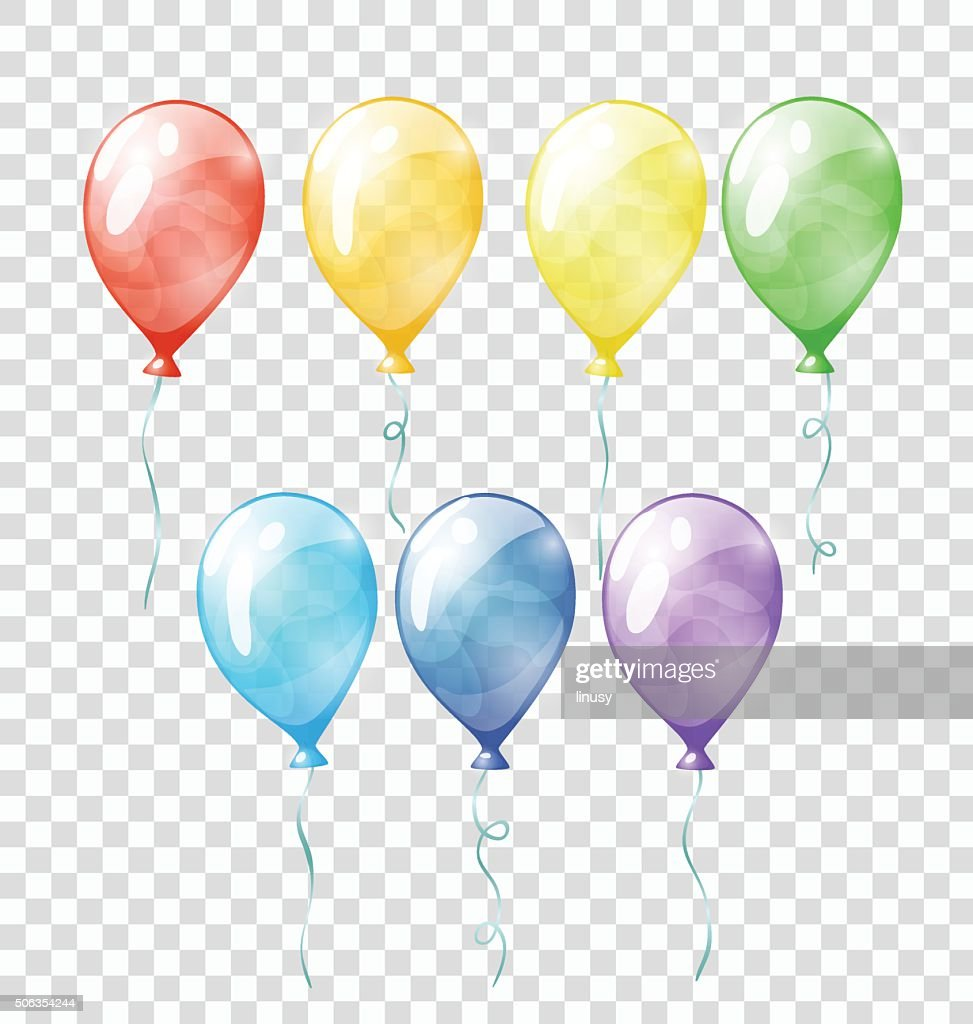 Colored transparent balloons