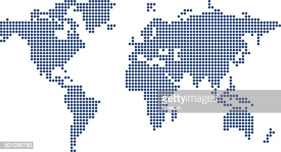 colored world map made from dots vector art getty images