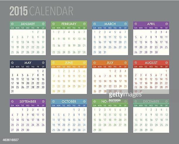 Colorful 2015 Calendar Template