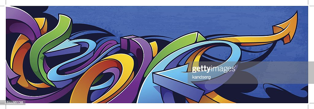 Colorful abstract arrow graffiti background