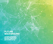 Colorful abstract background. Abstract polygonal  background with connecting dots