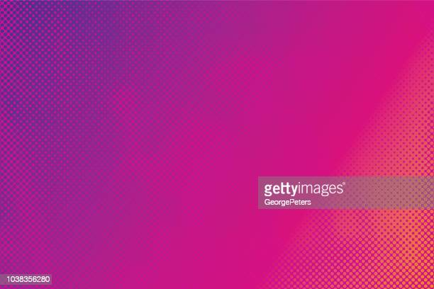 colorful abstract background halftone pattern - silk screen stock illustrations