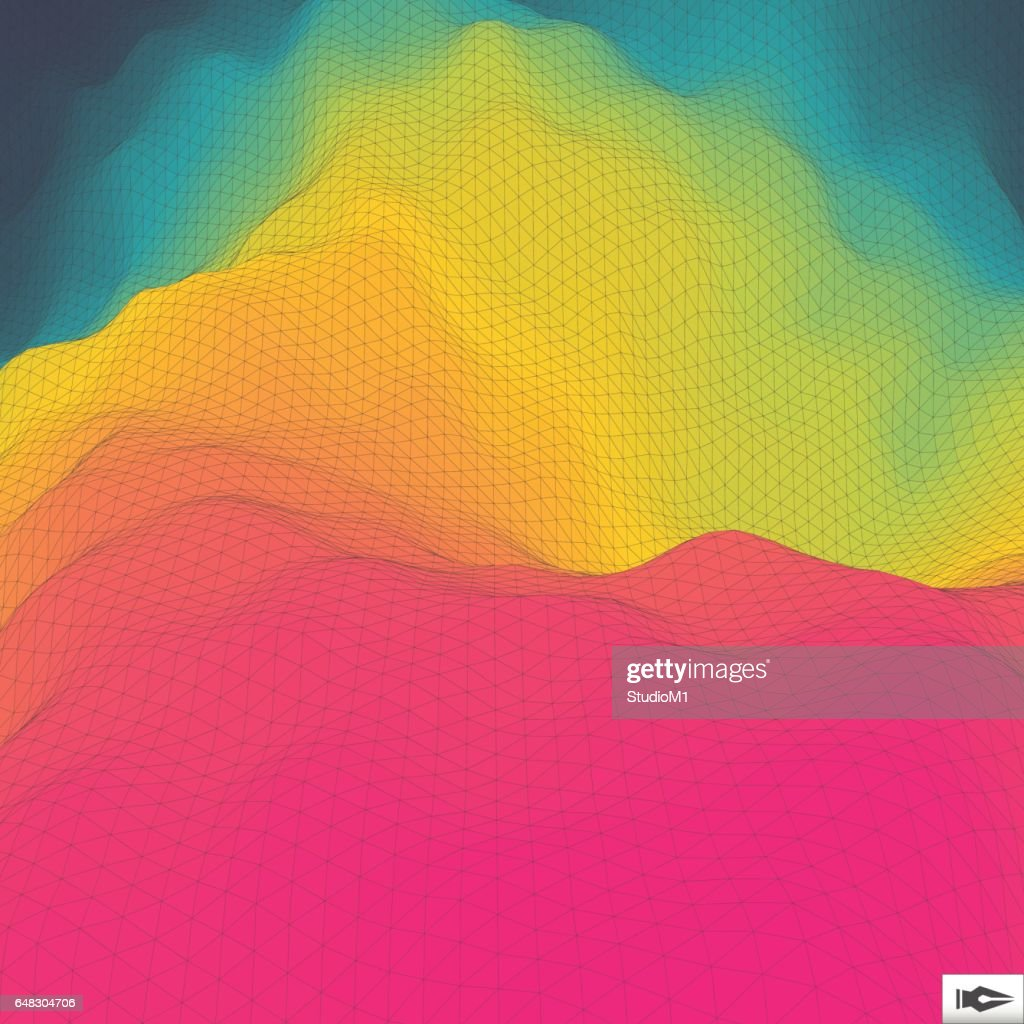 Colorful Abstract Background. Mosaic.