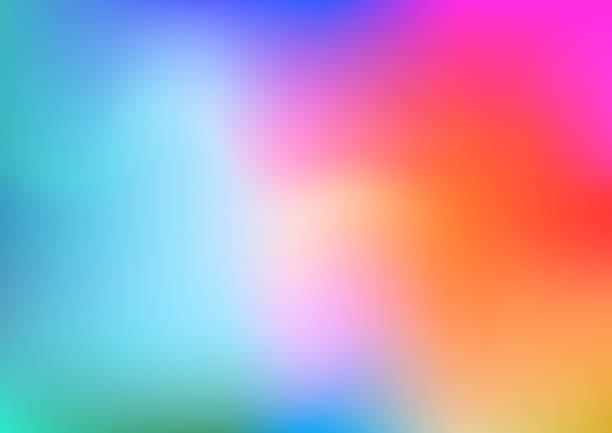 colorful abstract background - rainbow stock illustrations