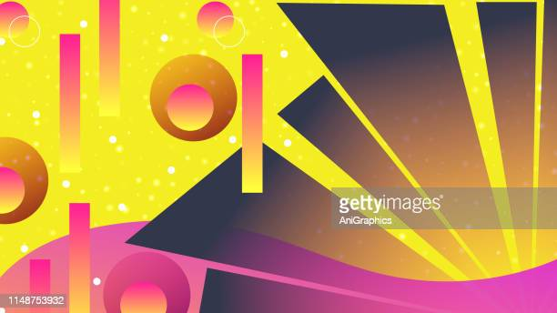 colorful abstract background - trapezoid stock illustrations