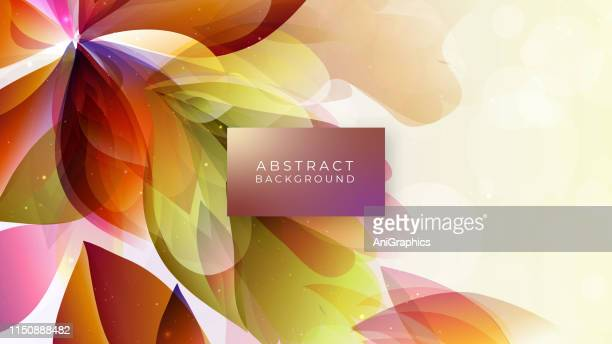 colorful abstract background - falling stock illustrations