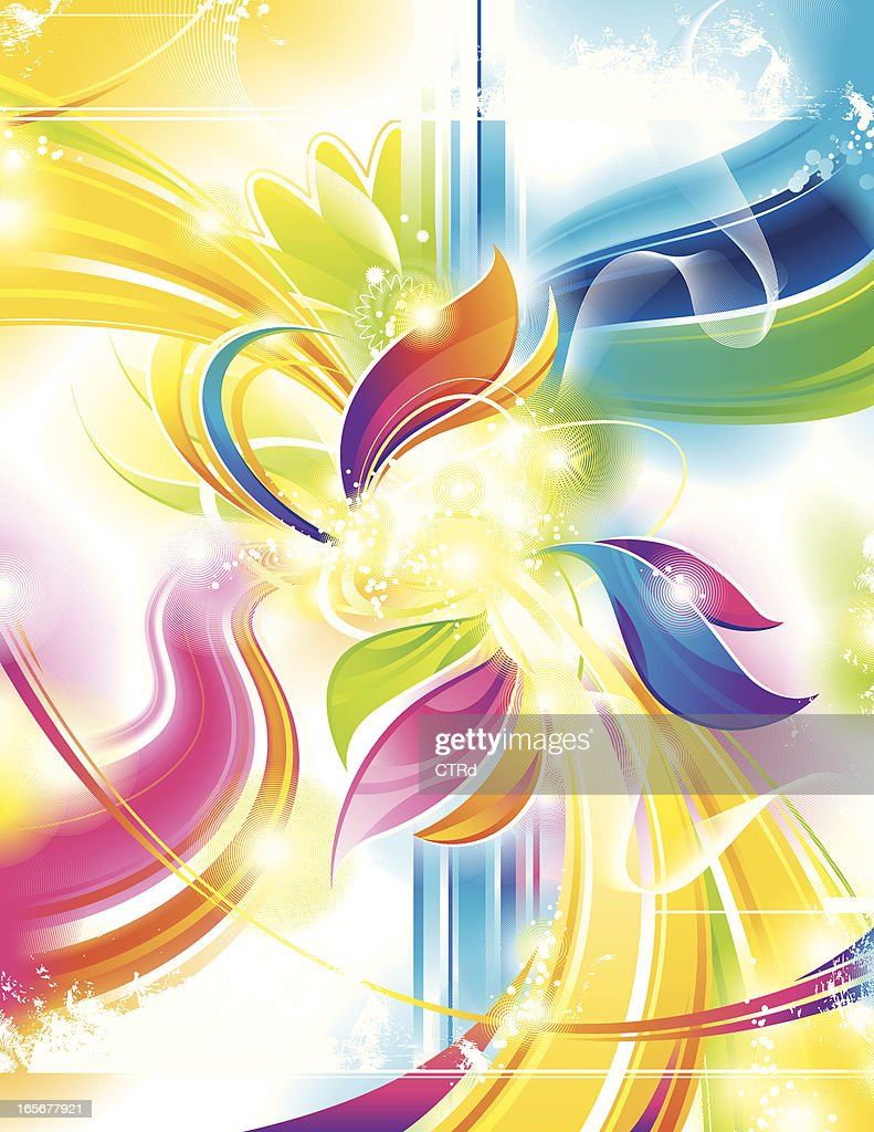 Colorful Abstract Background With Light Effects High Res