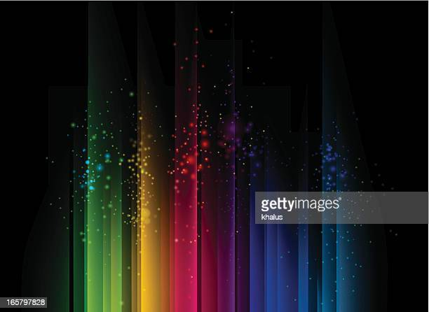 colorful abstract background with streams of light - rainbow stock illustrations, clip art, cartoons, & icons