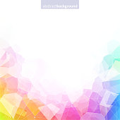 Colorful abstract crystal background. Multiple bright colors.