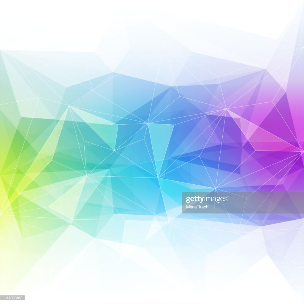 Colorful abstract crystal background