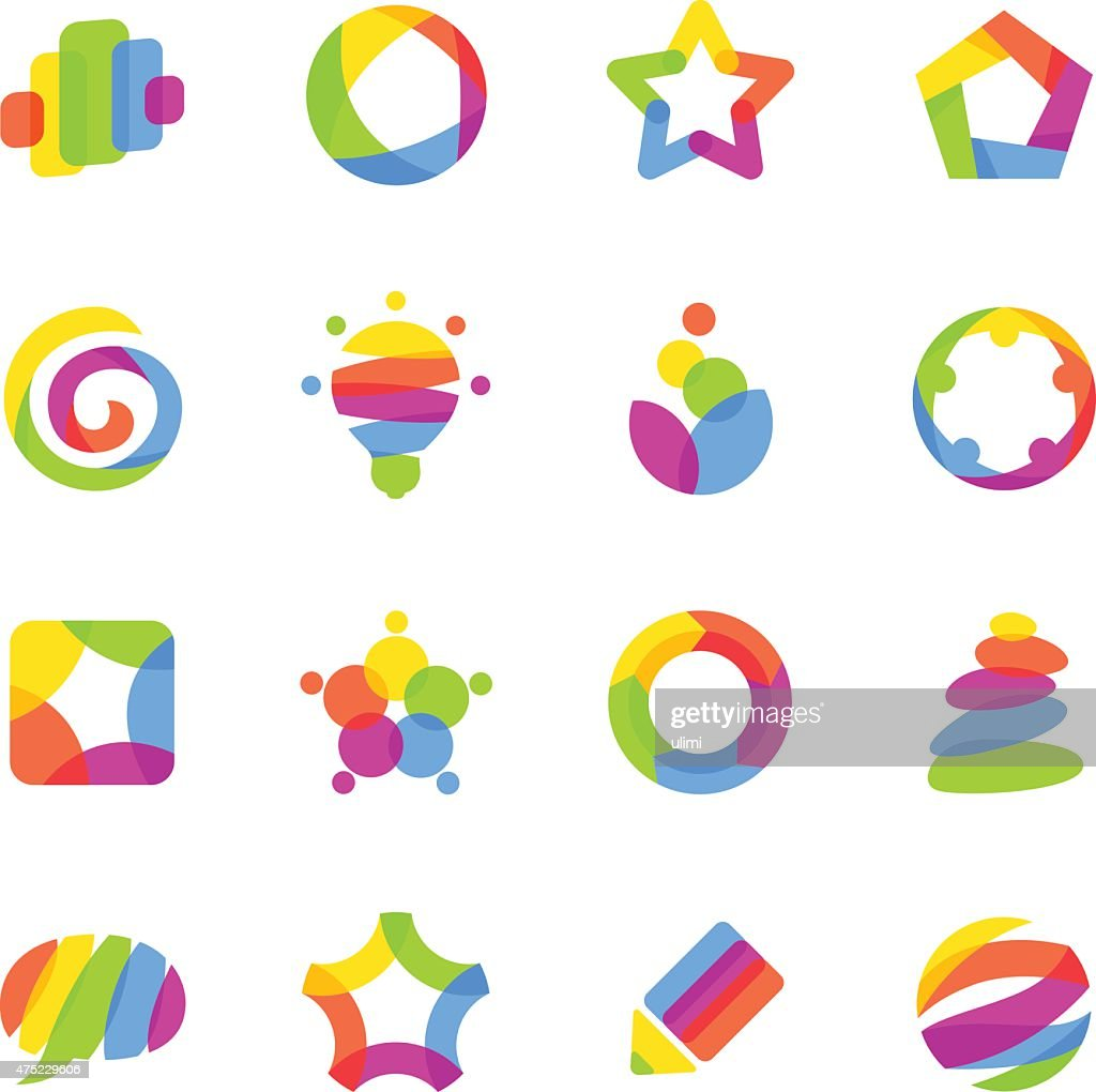 Colorful abstract design elements