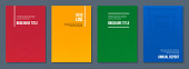 colorful abstract geometric minimalistic cover templates