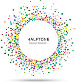 Colorful Abstract Halftone Logo Design Element