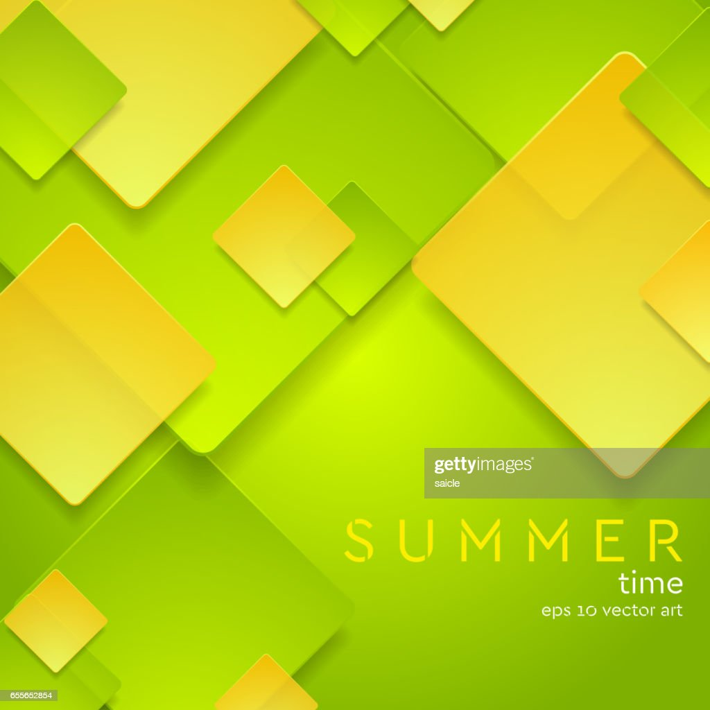 Colorful abstract squares corporate design