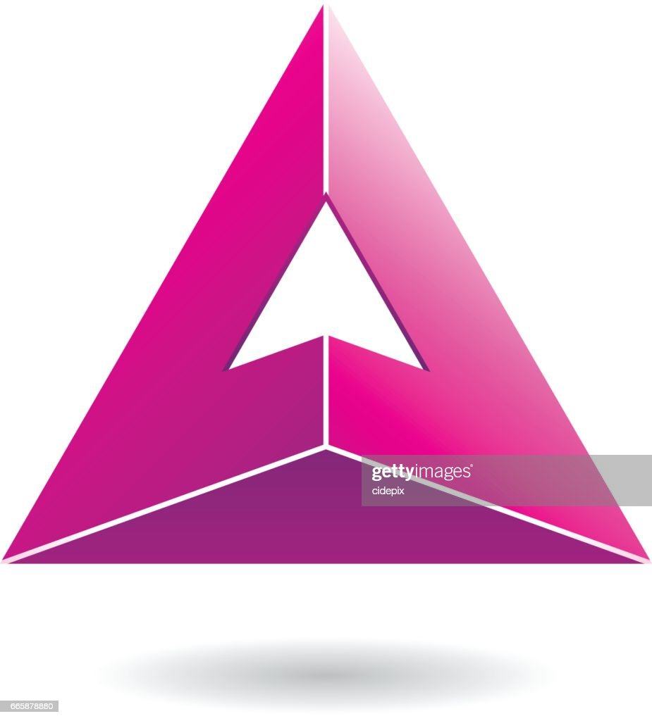 Colorful Abstract Triangle Symbol Of Letter A Vector Art | Getty Images