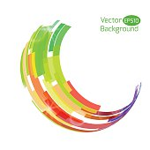 Colorful abstract vector background. Abstract technology 3d circle.