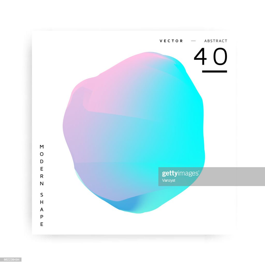 Colorful abstract vector modern shape