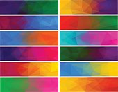 Colorful abstract vector polygonal backgrounds for banner