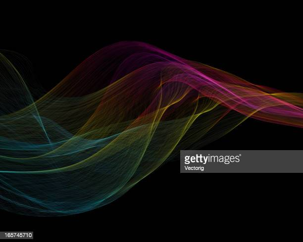 A colorful abstract wave background