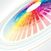colorful abstract wheel